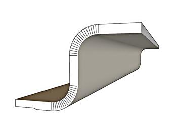 גבס עגול-גבס מעוגל-פרופיל גבס-קרניז גבס