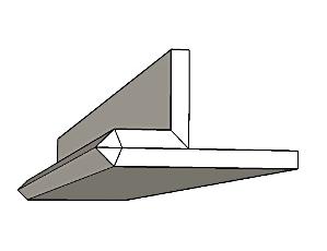 פס ניתוק /פרופיל קצה תקרה צפה לתאורה נסתרת SK-4
