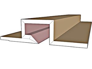 פרופילי גבס לתאורה נסתרת דגם SD-3