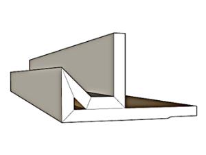 פס ניתוק /פרופיל קצה תקרה צפה לתאורה נסתרת SK-1