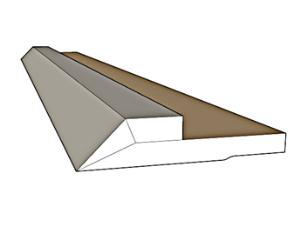 פס ניתוק / פרופיל קצה תקרה צפה לתאורה נסתרת SK-7