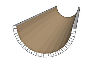 פרופיל גבס מעוגל C